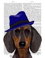 Dachshund With Blue Trilby Fine-Art Print