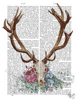 Deer Skull With Flowers 1 Fine-Art Print