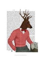 Deer At The Bar Fine-Art Print