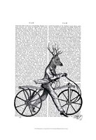 Dandy Deer on Vintage Bicycle Fine-Art Print
