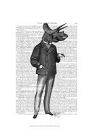 Triceratops Man 1 Dinosaur Fine-Art Print