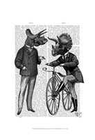 Triceratops Men What Kind of Mileage Fine-Art Print
