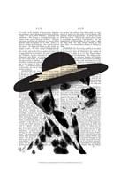 Dalmatian and Brimmed Black Hat Fine-Art Print