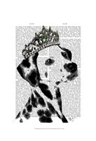 Dalmatian with Tiara Fine-Art Print