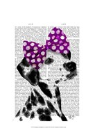 Dalmatian with Purple Bow on Head Fine-Art Print
