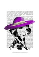 Dalmatian With Purple Wide Brimmed Hat Fine-Art Print