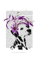Dalmatian With Purple Fascinator Fine-Art Print