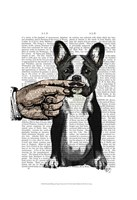 French Bulldog and Finger Moustache Fine-Art Print