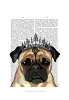 Pug With Tiara Fine-Art Print