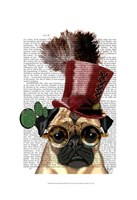 Pug with Steampunk Style Top Hat Fine-Art Print