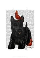 Scottish Terrier and Birds Fine-Art Print