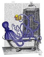 Octopus in Bath Fine-Art Print