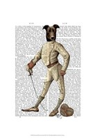 Greyhound Fencer in Cream Full Fine-Art Print