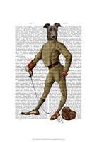 Greyhound Fencer Dark Full Fine-Art Print