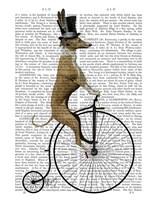 Greyhound on Black Penny Farthing Bike Fine-Art Print