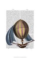 AirShip with Blue Sails Fine-Art Print