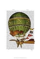 Hot Air Balloon Green Fine-Art Print