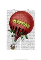 Le Pilote Hot Air Balloon Fine-Art Print