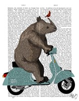 Rhino on Moped Fine-Art Print