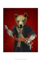 Bear in Blue Robes Fine-Art Print