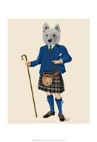 West Highland Terrier in Kilt Fine-Art Print