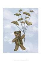 Bear with Book Butterflies Fine-Art Print