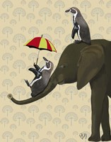 Elephant and Penguins Fine-Art Print