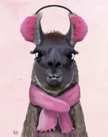 Chilly Llama Pink Fine-Art Print