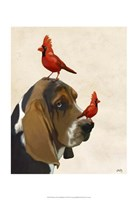 Basset Hound and Birds II Fine-Art Print