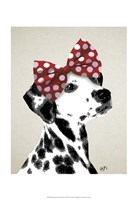 Dalmatian With Red Bow Fine-Art Print
