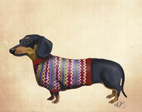 Dachshund With Woolly Sweater Fine-Art Print