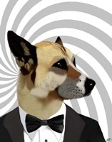 Debonair James Bond Dog Fine-Art Print
