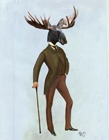 Moose In Suit Full Fine-Art Print