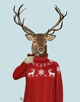 Deer in Ski Sweater Fine-Art Print