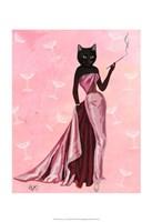 Glamour Cat in Pink Fine-Art Print