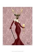 Glamour Deer in Marsala Fine-Art Print