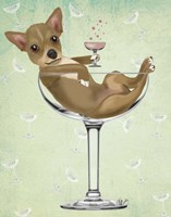 Chihuahua in Cocktail Glass Fine-Art Print