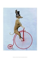 Greyhound on Red Penny Farthing Fine-Art Print