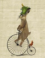 March Hare on Penny Farthing Fine-Art Print
