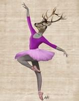 Ballet Deer in Pink II Fine-Art Print