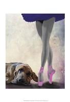 Bloodhound And Ballet Dancer Fine-Art Print