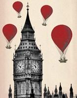 Big Ben and Red Hot Air Balloons Fine-Art Print