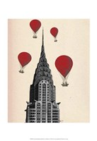 Chrysler Building and Red Hot Air Balloons Fine-Art Print