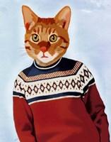 Cat in Ski Sweater Fine-Art Print