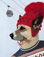 Dog in Ski Sweater Fine-Art Print