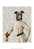 Greyhound Fencer in Cream Portrait Fine-Art Print