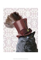 Grey Cat With Steampunk Top Hat Fine-Art Print