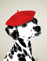 Dalmatian With Red Beret Fine-Art Print