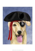 Yellow Labrador Pirate Fine-Art Print