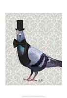 Pigeon in Waistcoat and Top Hat Fine-Art Print